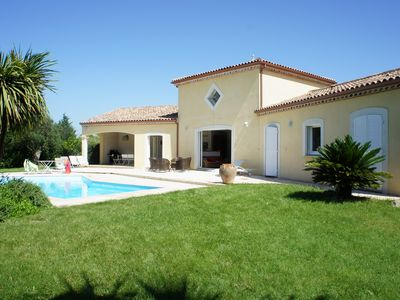 Photo for VILLA LANGUEDOCIENNE 4 STARS 140m2, SWIMMING POOL, GARDEN TREES FOR 8PERSONNES.