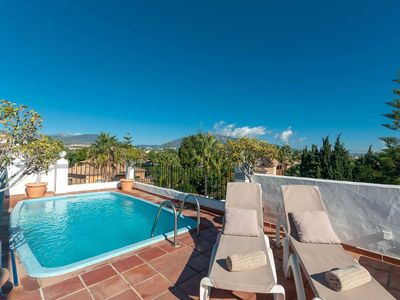 Photo for Large penthouse at the beach with large roof terrace and private pool.