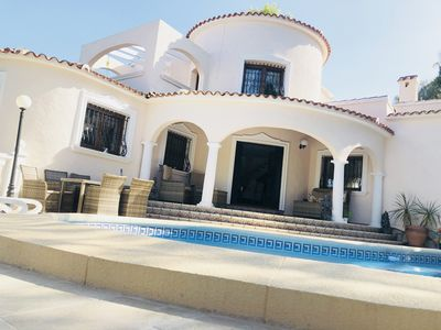 Photo for 4 Bedroom Beautiful private Villa in Denia with pool and sea views