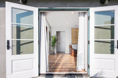 French doors that lead to outside