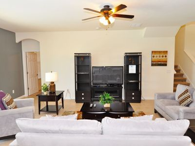 Photo for Disney On Budget - Watersong - Amazing Cozy 5 Beds 4.5 Baths Villa - 9 Miles To Disney
