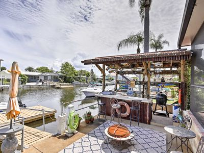 Photo for Waterfront Port Richey Home w/ Tiki Bar & Pool!