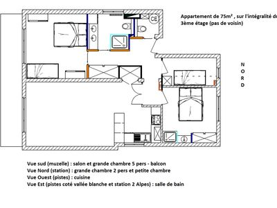 Photo for Spacious renovated apartment - 75m², tranquil, ideal for families (baby equipment.)