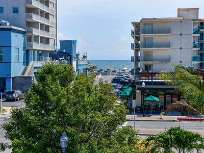 Photo for Ocean side 2 bedroom condo/Just steps to Beach and Boardwalk with ocean view