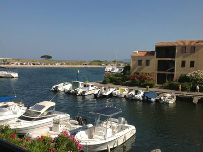 Photo for 2 rooms in the marinas exceptional view on the lake, pool