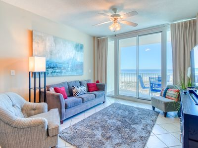 Photo for Gulf-front condo w/ access to multiple pools & hot tubs! Easy beach access!