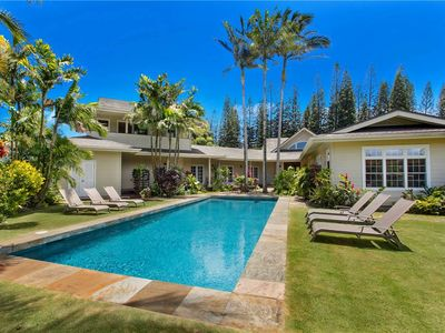 Photo for Luxury Home, Largest Private Pool in Princeville, on Golf Course!