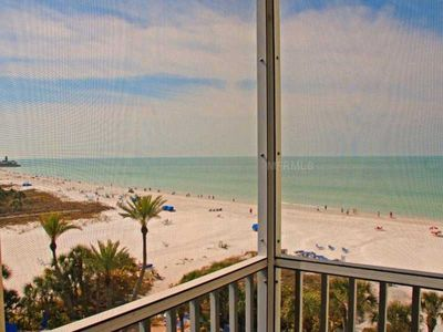 ☀️ Gulf View from Every Room, Beach & Pool Open! Wifi,Steps from Beach,6th Floor