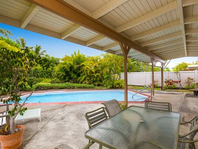 Photo for Great value at only $200 a night!  Beautiful house, private pool, walk to beach.
