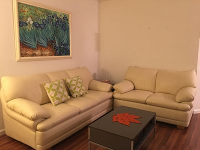 The living room with Van Gough