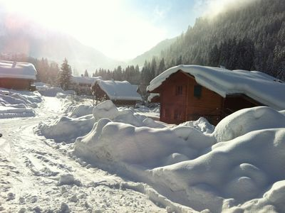Photo for Tradional Savoyard Wooden Ski Chalet, Located in Chatel Port du soleil