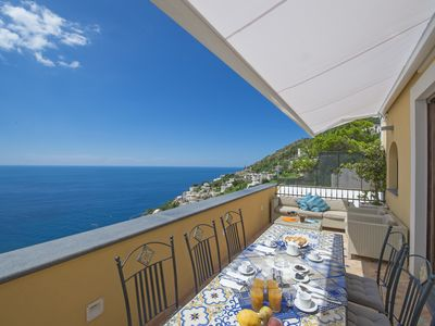 Photo for Apartment on the Amalfi Coast in a spectacular position, with view over Capri