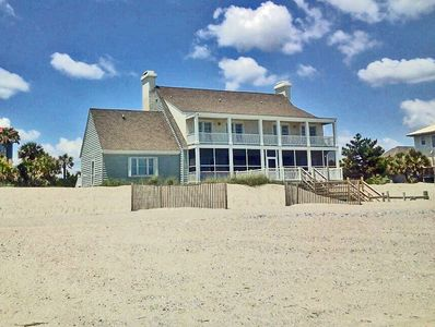 Beach House sits directly on the Dunes. Just several steps down to the Beach.