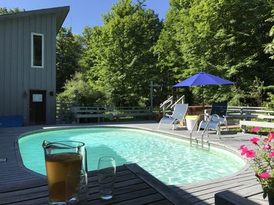 Photo for SECLUDED POOL, SPA & STREAM on 7 Acres, JUST 5 MINUTES FROM TOWN