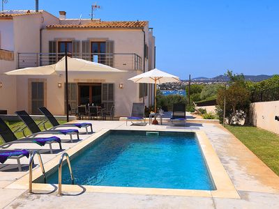 Photo for 3 bedroom Villa, sleeps 6 in Portocolom with Pool, Air Con and WiFi
