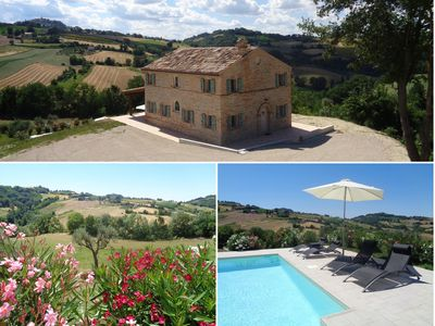 Photo for BEAUTIFUL HOLIDAY HOUSE (6-8 people) in the rolling countryside of Le Marche