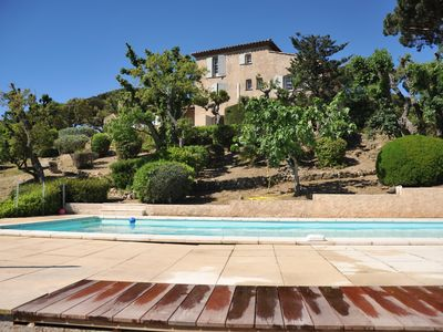 Photo for Magnificent views of the Gulf of St Tropez, large villa, large pool