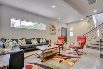 Living Area - Welcome to Austin! Gather in the spacious living area - built for conversations!