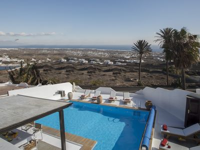 Photo for Villa with private Jacuzzi, pool and amazing sea views in a quiet area