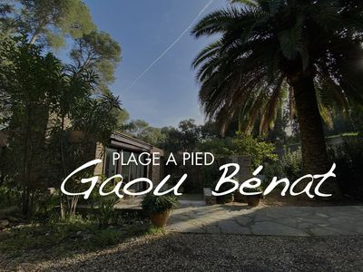 Photo for GAOU CAP BENAT 100 m beach ALL FOOT house LUXE air-conditioned