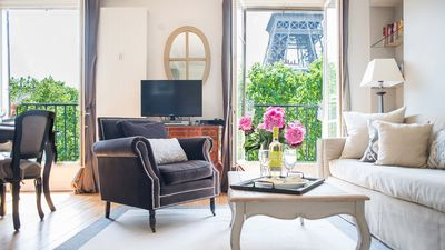 Photo for Sale! Elegant 3-Bed with Spectacular Eiffel Views, Perfect Left-Bank Luxury