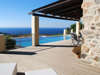 Photo for Keramoti Villas - Villa Erofili - Heated Pool - Outdoor Heated Jacuzzi