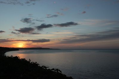 Sunrise from the terrace over Exmouth