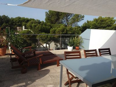 Photo for SPECTACULAR ATTIC-DUPLEX WITH TERRACES, SWIMMING POOL AND SEA VIEWS IN CIUTADELLA