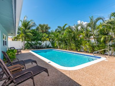 Photo for Private Paradise in Pompano - Private Heated Pool -Less than a Mile to the Beach