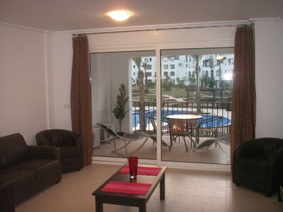 Photo for Spacious golf apartment near pool, ideal base for discovering Costa Calida