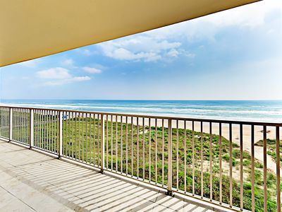 Photo for New Listing! Waterfront Gem w/ Balcony, Pool & Hot Tub - Steps to Beach!
