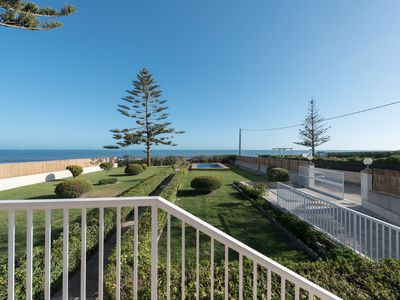 Photo for Seafront villa with garden and pool.