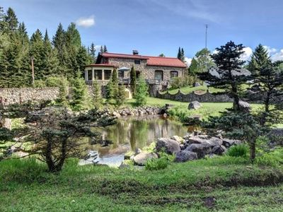 Photo for Chalet Le Chateau with Guest House on the lake