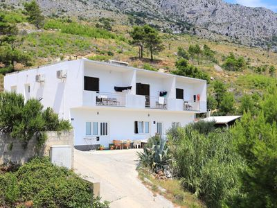 Photo for One bedroom apartment with balcony and sea view Lokva Rogoznica, Omiš (A-17645-b)