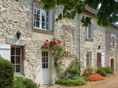 Photo for A spacious 16th Century Cottage in the Loire Valley - Character and comfort
