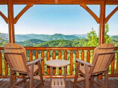 Photo for Mountains Blessing~Breathtaking Views, 3 K Suites,Pool Table, Hot Tub,WiFi, On-Site Fitness Center