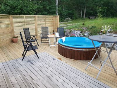 Photo for Waldhaus, Ferienalage, fantastic nature, Hottube, boat, fishing, 10 min to the sea