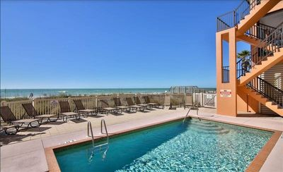Photo for THANKSGIVING WEEK STILL AVAILABLE!! BOOK YOUR 2020 STAY TODAY! LOW RATES - GREAT LOCATION - ACROSS THE STREET FROM THE GULF OF MEXICO!!  BEAUTIFUL CONDO WITH POOL AND DOCK!!