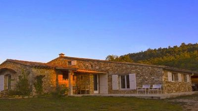 Photo for The Garrigue, its magnificent views, its large pool, charm and tranquility