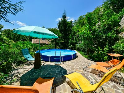 Photo for This 3-bedroom villa for up to 6 guests is located in Lovran and has a private swimming pool, air-co