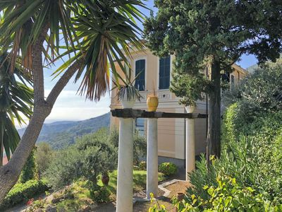 Photo for Charming Villa 18 pax with private pool free WiFi sea view near Cinque Terre