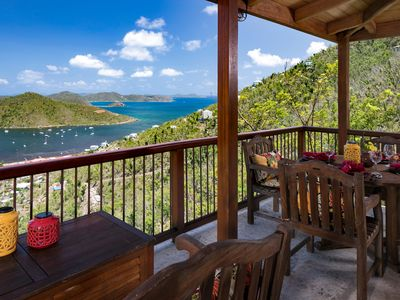 Photo for Peaceful, luxury villa with breathtaking views of Coral Bay and the BVIs