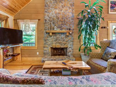 Photo for Dog-friendly lodge w/ two-level deck, patio & firepit - near hiking & tubing!