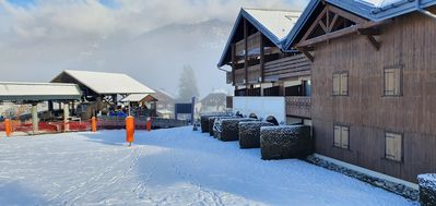 Photo for Ski-in Ski-out apartment at 25m from the cabin lift
