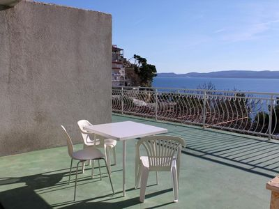 Photo for Studio flat with terrace and sea view Lokva Rogoznica (Omiš)