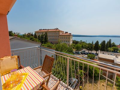 Photo for Holiday apartment with sea view 200 m from the sandy beach