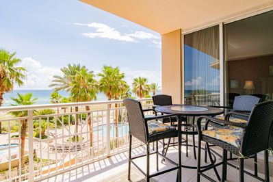 Spacious Balcony with dining for four