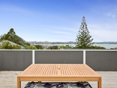 Photo for Beautiful view, all day sun on deck, warm and well equipped home