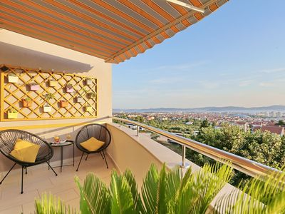 Photo for MAJESTIC SUNSET APARTMENT ZADAR, BREATHTAKING PANORAMIC VIEW ON THE CITY AND SEA