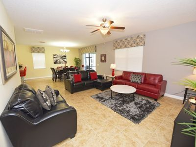 Photo for Family-Friendly Home near Disney w/ WiFi, Pool, LCDTV, Resort Golf, Pool, Tennis